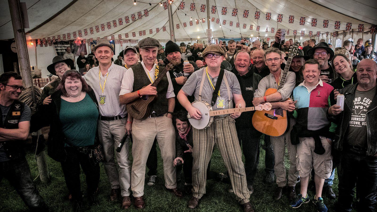 Laggy Band live at MAG Farmyard Part band in Yorkshire